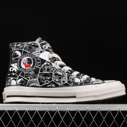Black Crayon Shin-Chan Converse Chuck Taylor All Star High Top Shoes