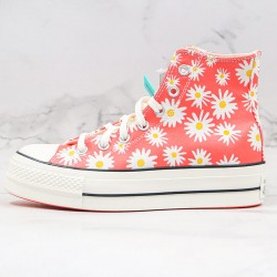 Camp Daisies Platform Chuck Taylor All Star Womens High Top Shoes