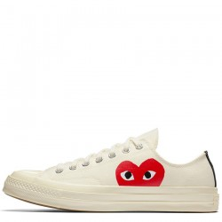 Comme des Garcons Play x Converse Chuck Taylor 1970s Low White