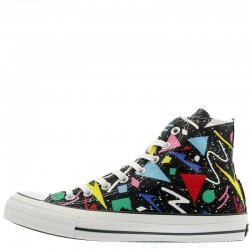Converse All Star 100 Geometric Black High Top Chuck Taylor