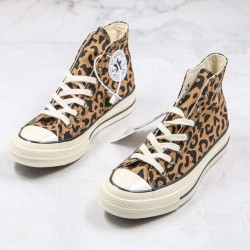 Converse All Star Chuck 70 High Top Leopard Canvas Shoes