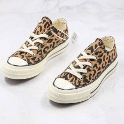 Converse All Star Chuck 70 Low Top Leopard Canvas Shoes