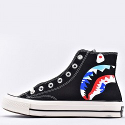 Converse Bape x Mastermind Japan Shark High Tops Black