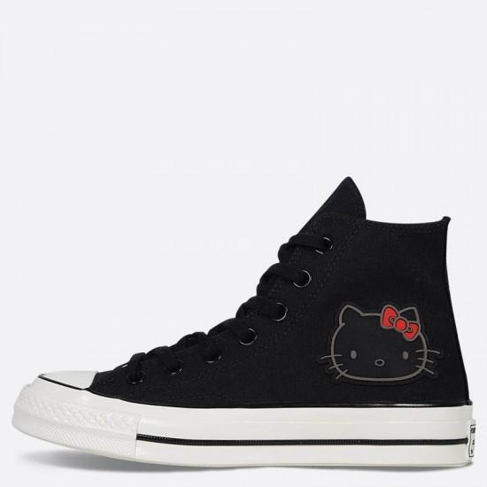 converse hello kitty black