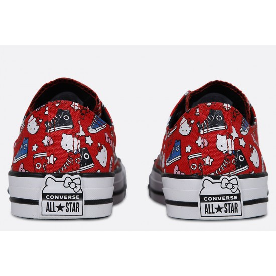 Details about Converse Chuck Taylor All Star Hello Kitty Red Canvas Low Tops Men's 12