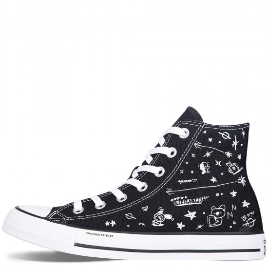 Converse Chuck Taylor All Star x BT21 Black High Tops Shoes