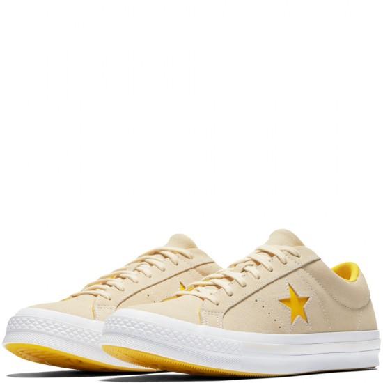 Converse One Star Pinstripe Vanilla Solar Power Shoes