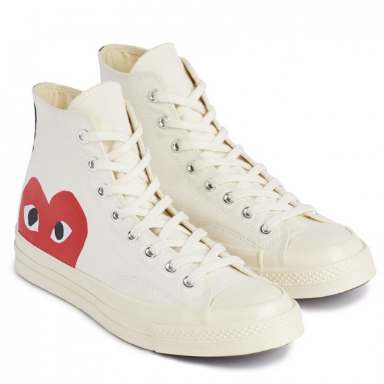 Converse x Comme Des Garcons PLAY All Star Chuck 70 High White