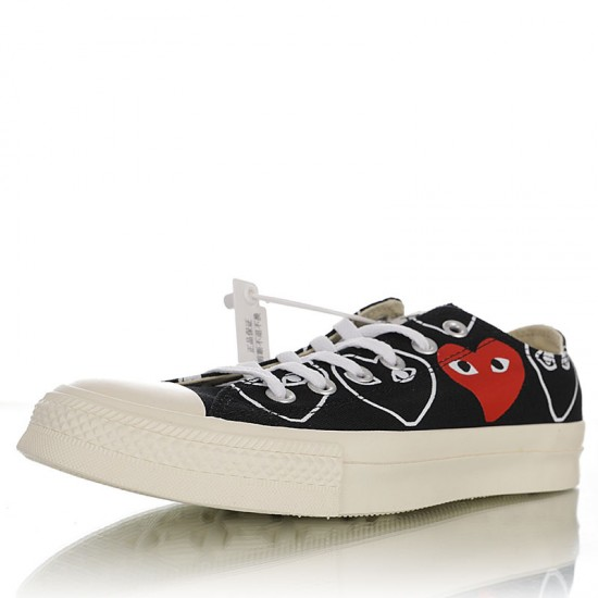 Converse x Comme Des Garcons Play Chuck 70s Multi-Heart Low Black
