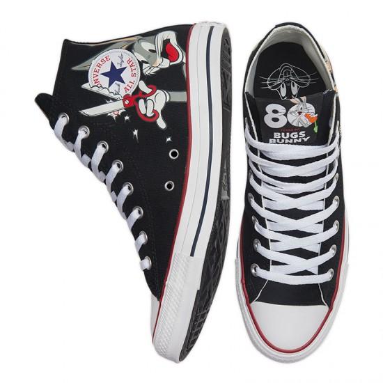 Converse x Looney Tunes Chuck Taylor All Star High Bugs Bunny Black