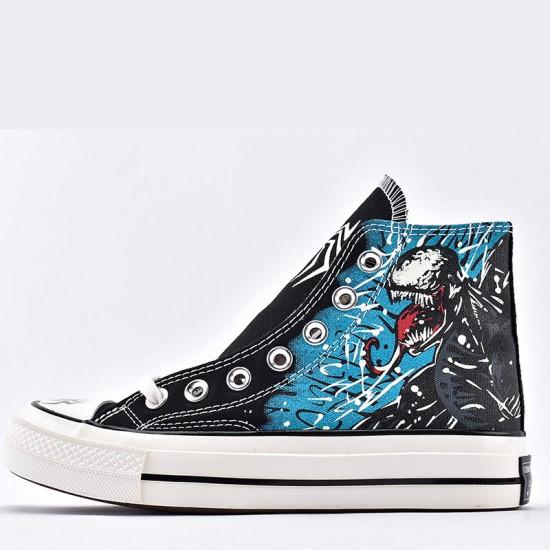 Converse x Marvel Venom All Star High Tops Sneakers