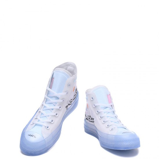 Off-White x Converse The Ten Chuck Taylor 70s Transparent High Blue