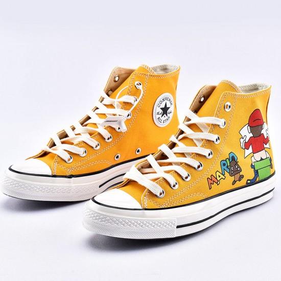 Super Mario Bros x Converse Chuck Taylor All Star Yellow High Top