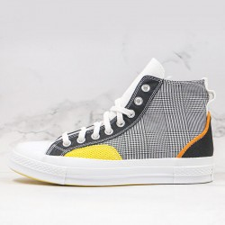 Unisex Hacked Fashion Chuck 70 High Top Black Speed yellow Sneakers