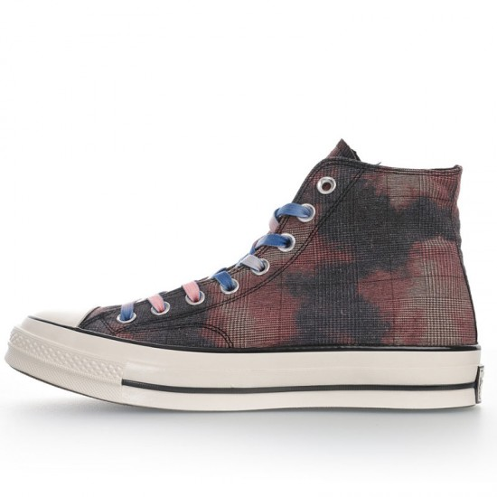 Vintage Converse Tie Dye Flame High Tops Shoes