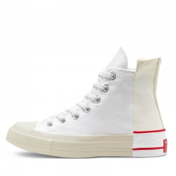 White Red Converse Chuck 70 High Rivals Edition Canvas Shoes