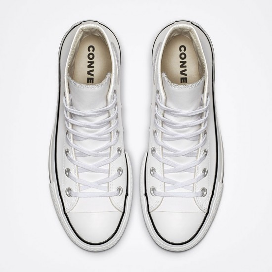 Womens Converse Chuck Taylor All Star Platform Clean Leather High Top
