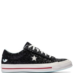 Chira Ferragni x Converse One Star Eyes Glitter Womens Black