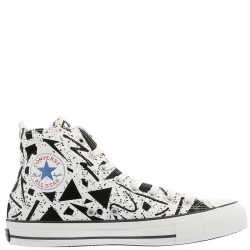 Converse All Star 100 Geometric Grey High Top Chuck Taylor