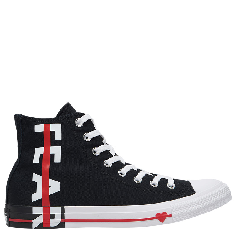 petróleo buscar Rechazo  Converse All Star Fear Love High Tops Black