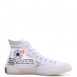 Off-White x Converse The Ten Chuck 70 Transparent High White
